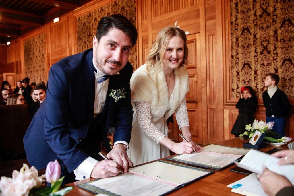 Le mariage chaleureux de Géraldine en plein hiver