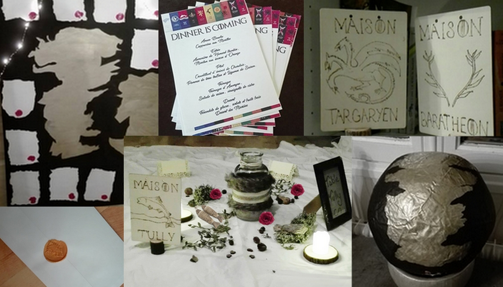 Décoration pour mariage Game of Thrones