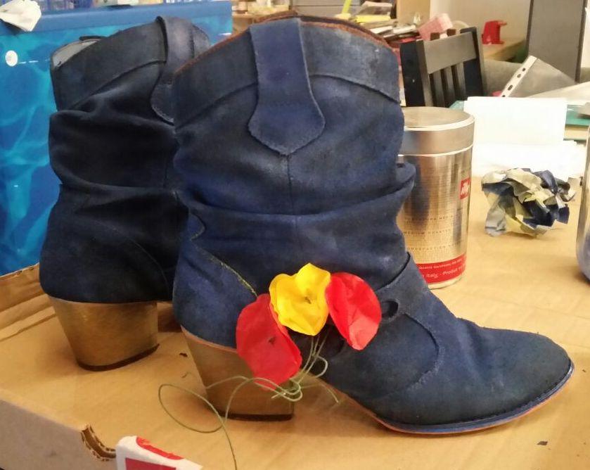 Mes chaussures de mariée customisées