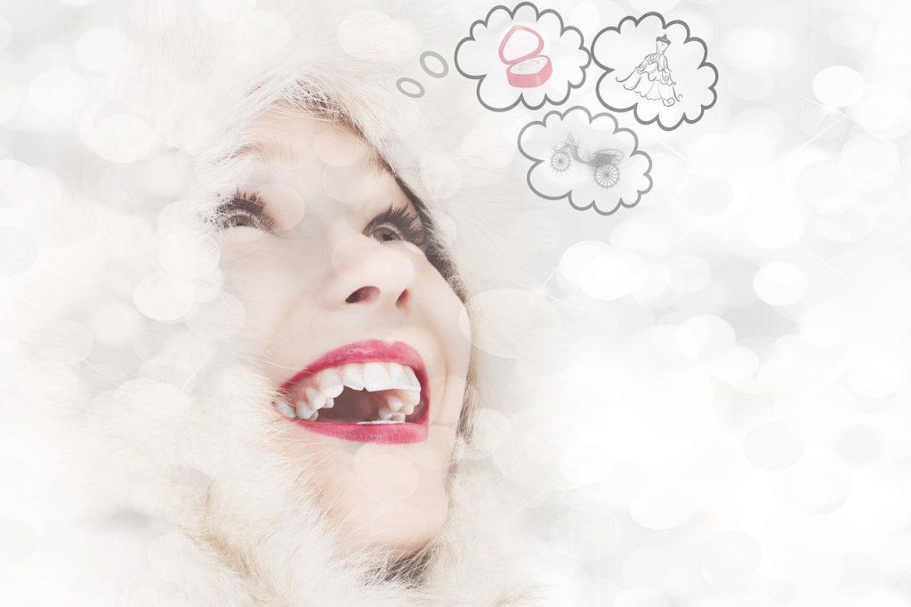 Femme en tain de rêver