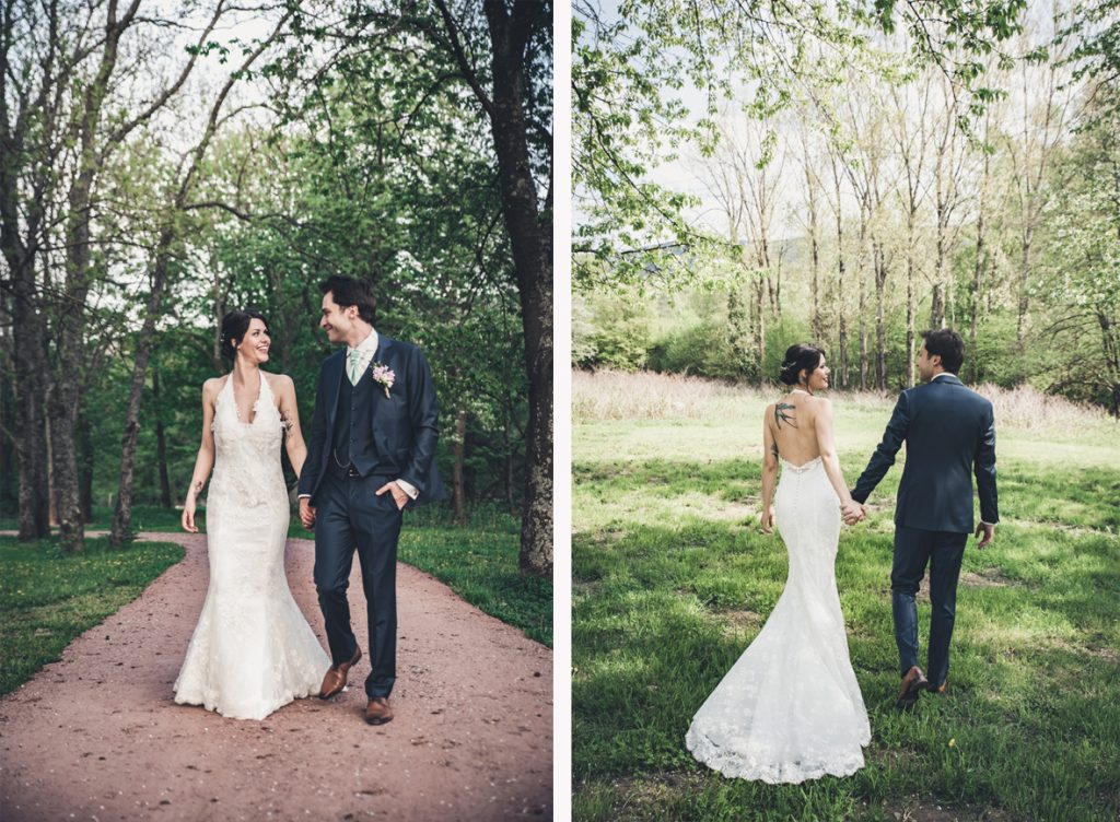 Mariage de Camille au printemps // Photo : Pauline Kupper