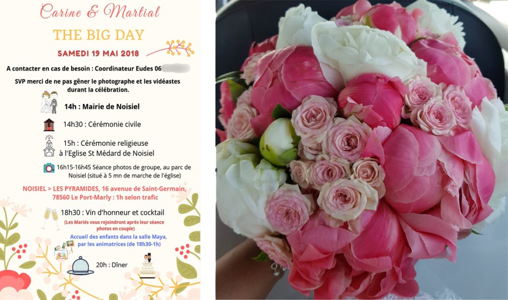 Mon mariage corail et fleurs // Photo : RG Wedding Studio