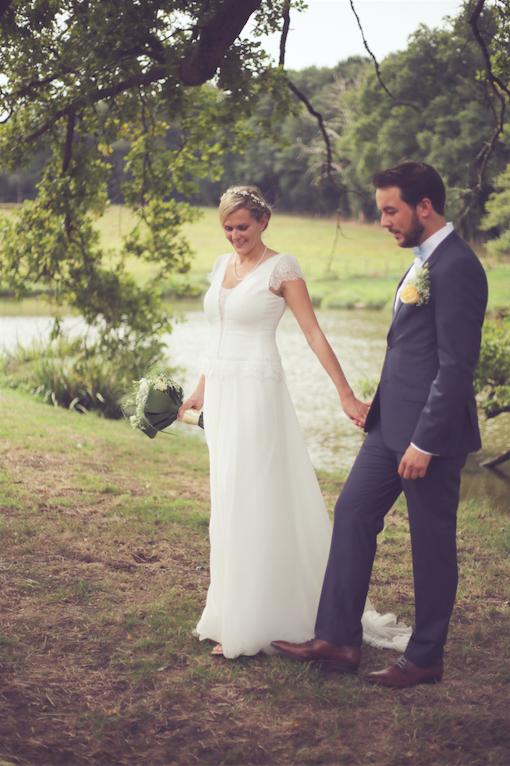 Notre séance photo de couple le jour du mariage // Photo : Cécile Picard Photographie