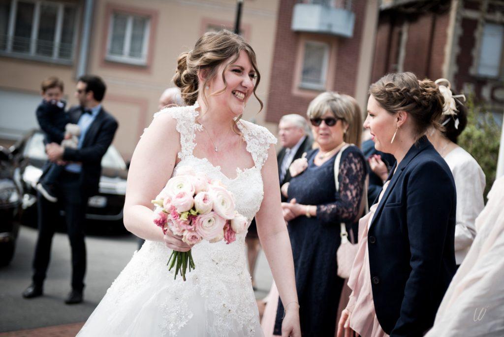 Notre arrivée à la mairie le jour du mariage // Photo : Lucie Nicolas