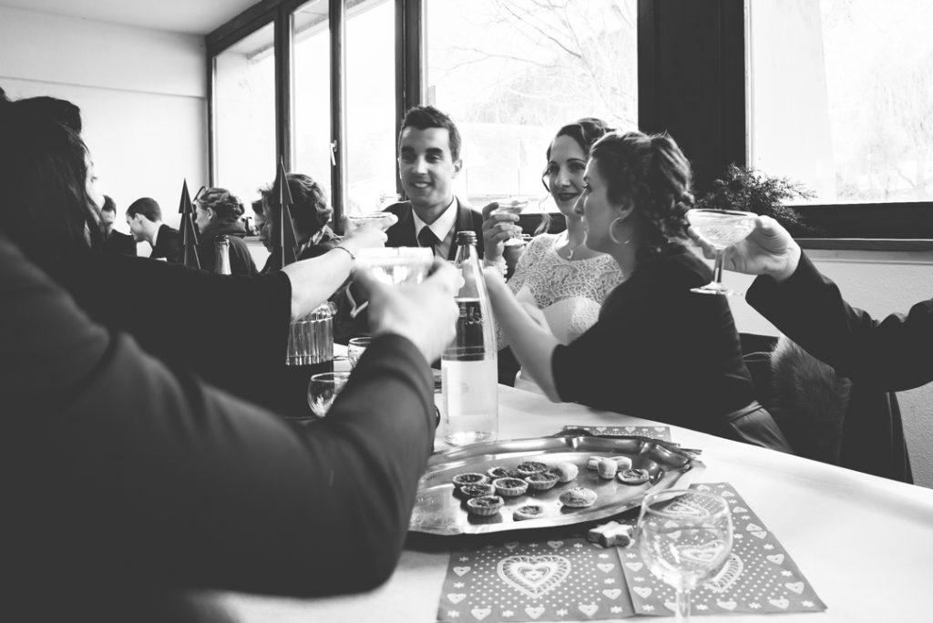 Le déjeuner du jour J avec potée savoyarde au menu ! // Photo : Pauline Kupper Photographie