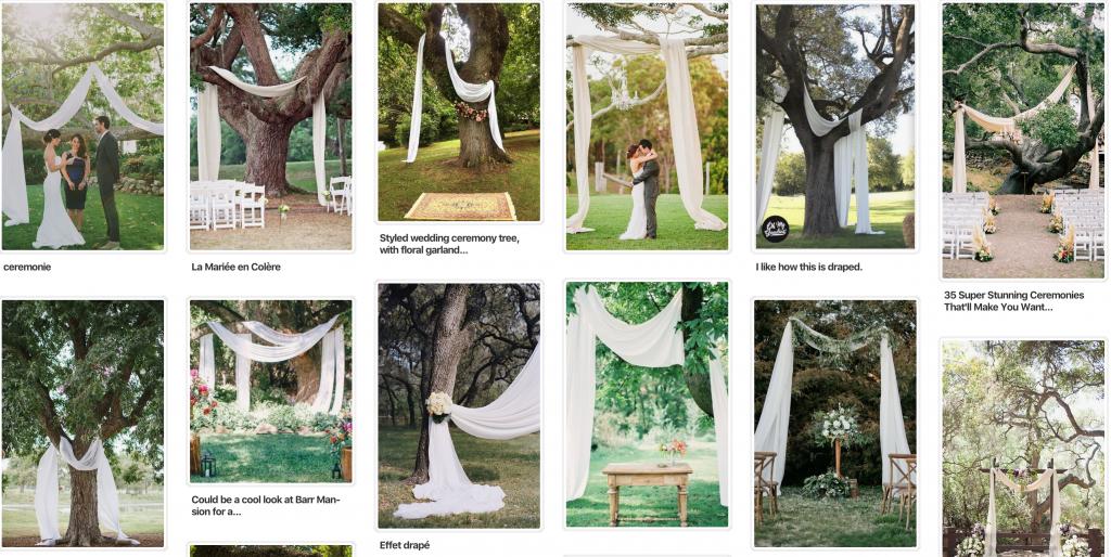 Idées pour l'arche en plein air de notre cérémonie laïque