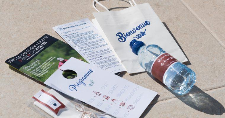 Des petites attentions DIY pour mes invités : sac de bienvenue, fiole de sel et kit anti-gueule de bois
