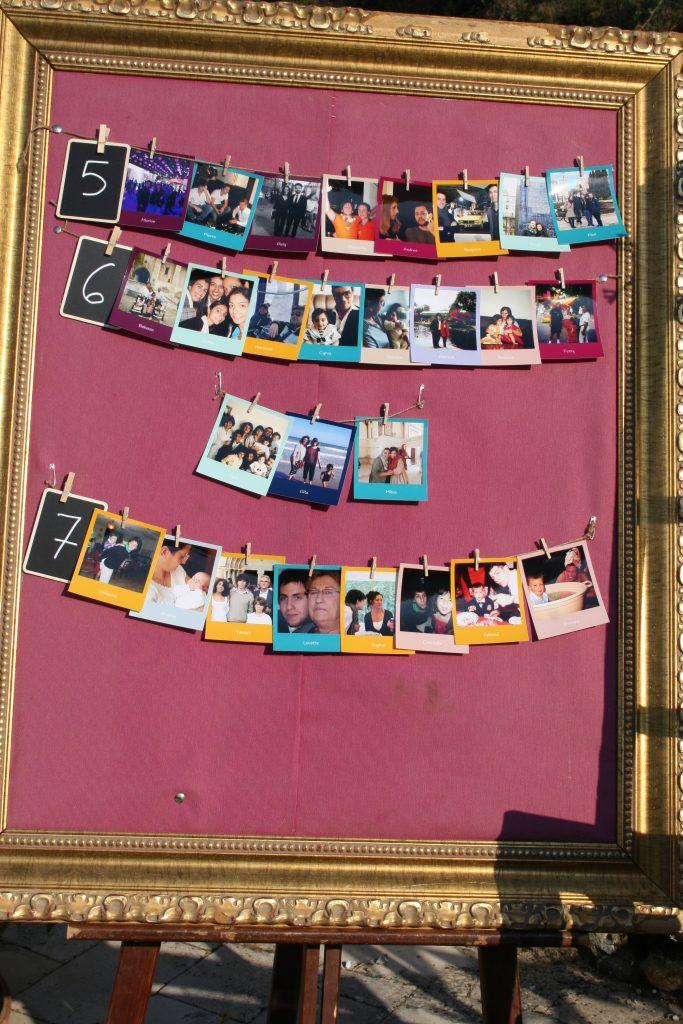 Plan de table personnalisé avec les photos des invités