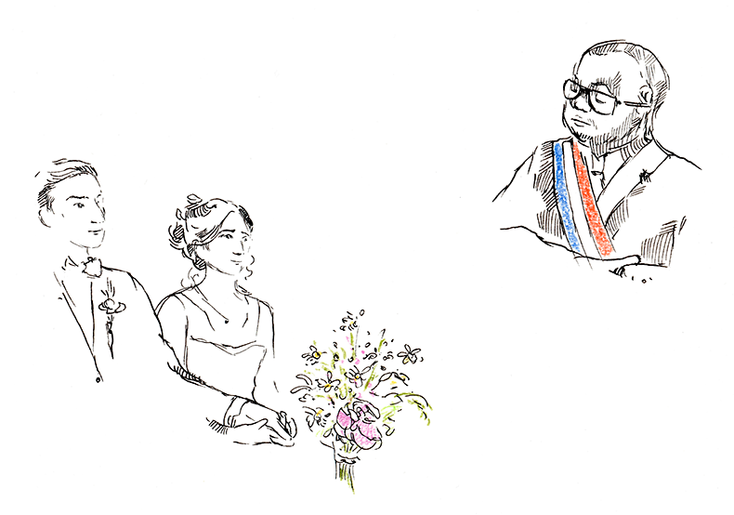 Faire appel à une illustratrice le jour du mariage // Illustration : Sophie - Prête-moi tes yeux