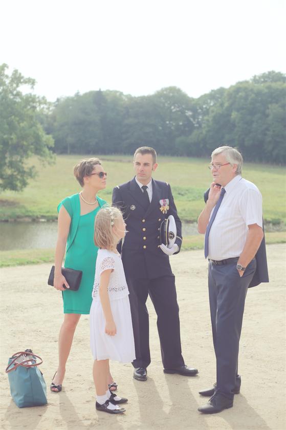 L'arrivée au château pour notre mariage // Photo : Cécile Picard Photographie