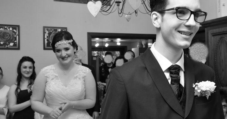 Mon mariage féerique au milieu des ruines : la découverte, la remise du bouquet et le déjeuner