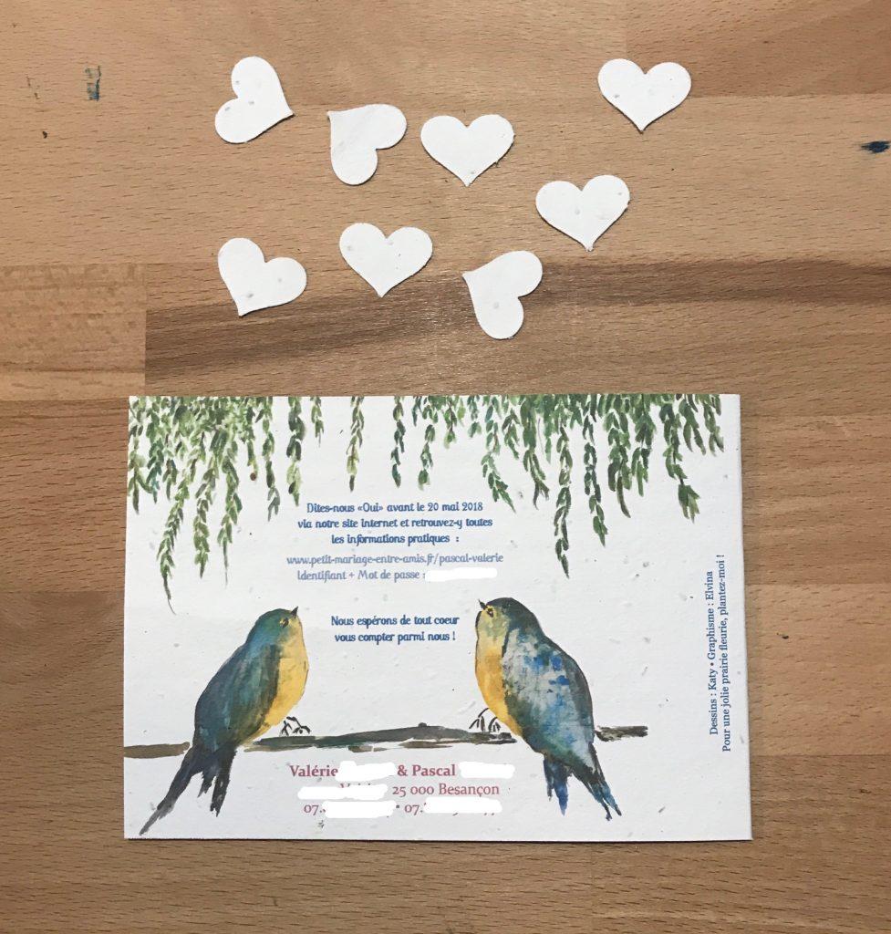 Faire-part de mariage avec du papier à planter !