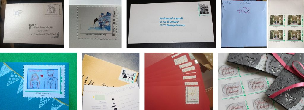 Papeterie mariage timbre personnalisé La Poste
