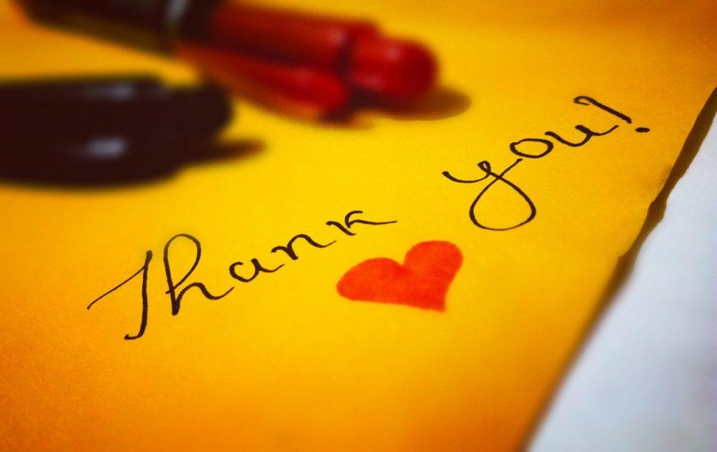 Nos remerciements personnalisés après le mariage