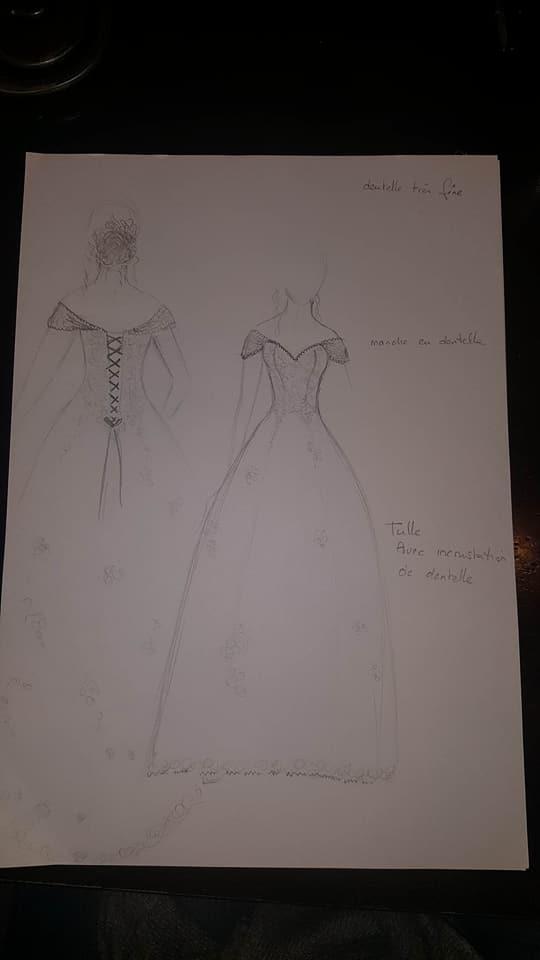 La confection de ma robe pour l'église