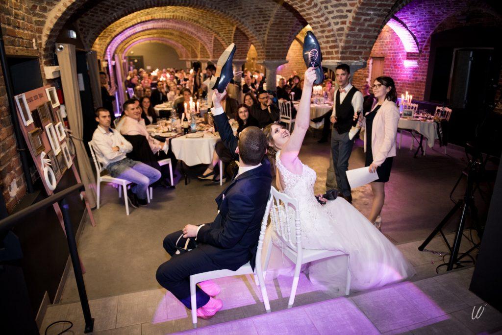 Les animations pendant le repas du mariage // Photo : Lucie Nicolas
