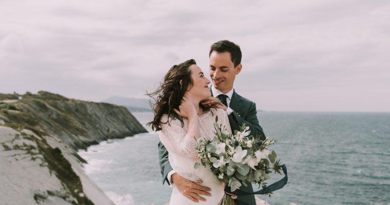 Mon mariage végétal d'automne au Pays Basque : nos photos de couple anticipées sur le littoral