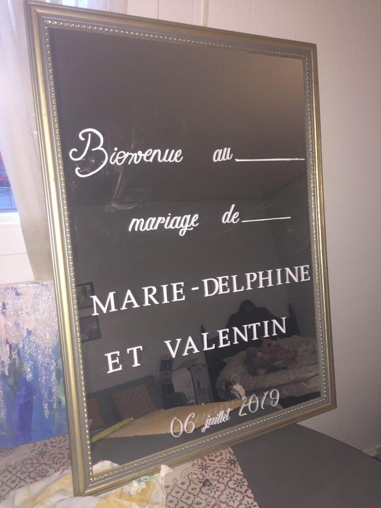 La déco DIY du mariage : le miroir de bienvenue