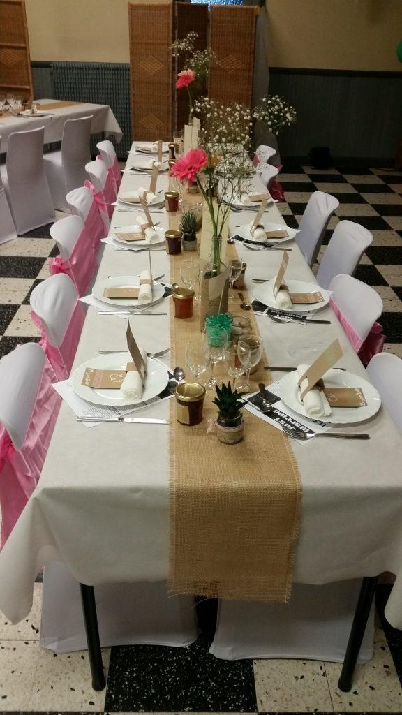 L'installation de notre salle de mariage
