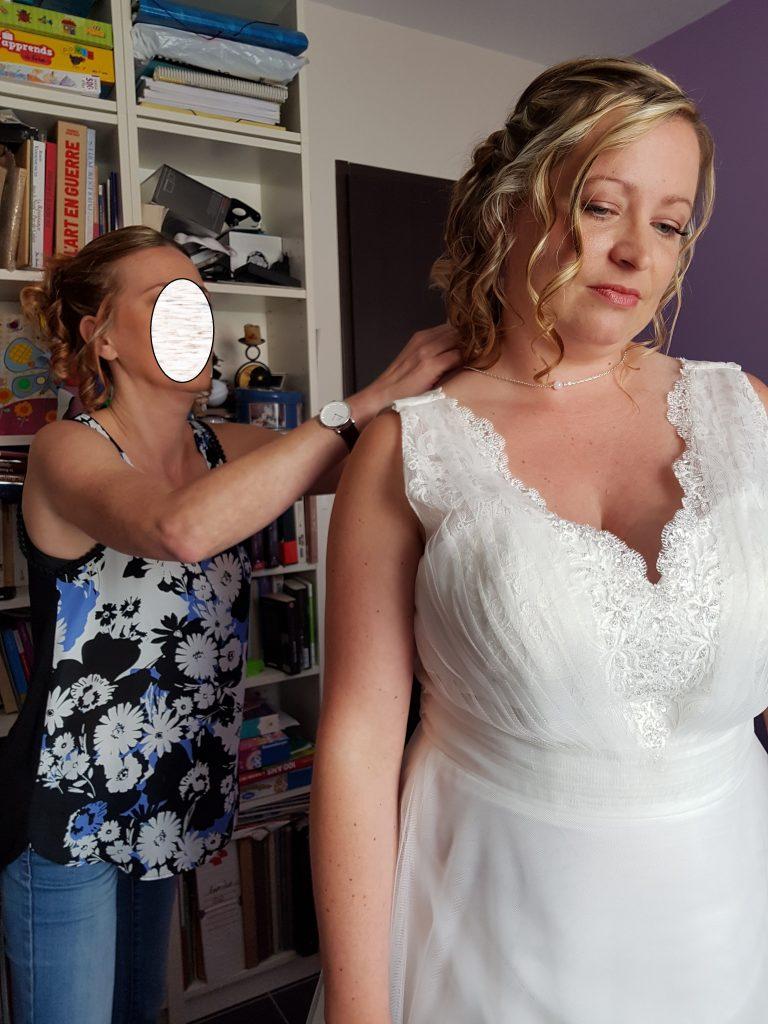 Mes préparatifs le jour du mariage