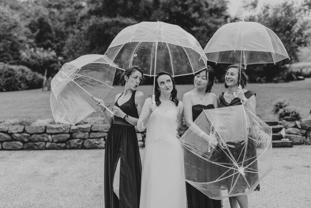 Nos photos de groupe sous la pluie // Photo : Sara Cuadrado