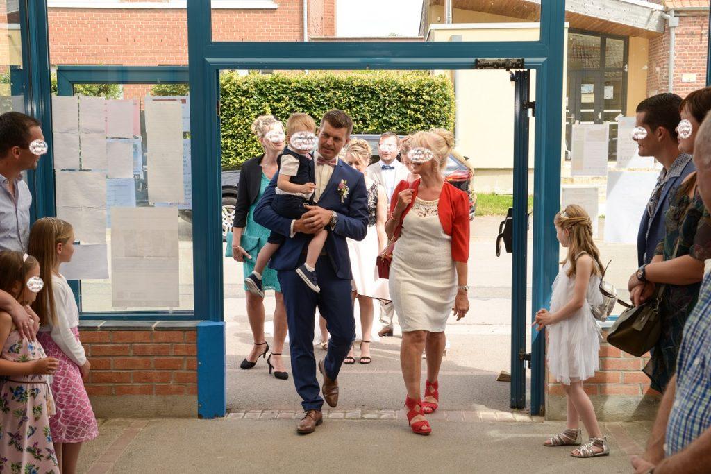Notre entrée à la mairie // Photo : Damien le Mellec