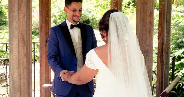 Mon lumineux mariage d'été entre passion et émotion : le premier regard