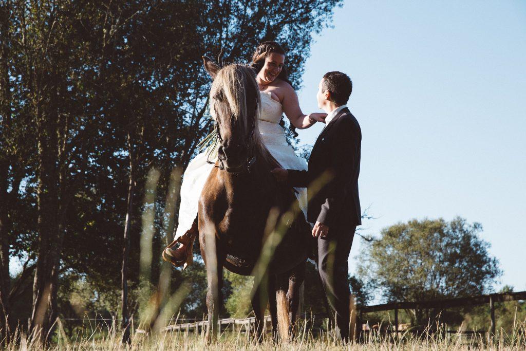 Notre day after au milieu des vaches et avec un cheval // Photo : Castille Alma
