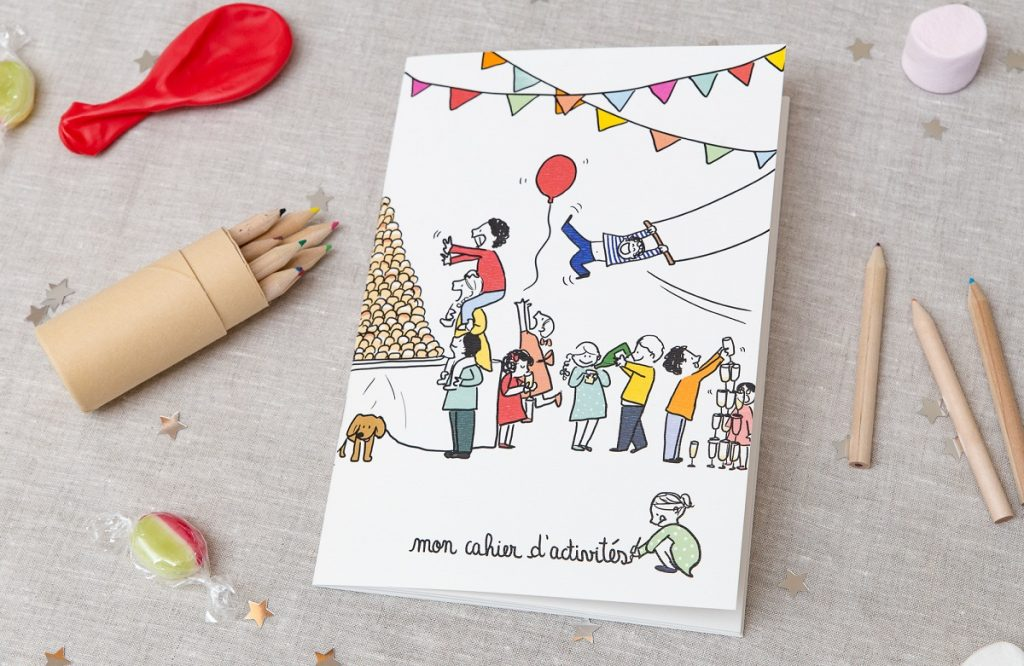 Concours Mademoiselle Dentelle : gagne tes livres d'activités pour les enfants avec Petit Mariage entre Amis !