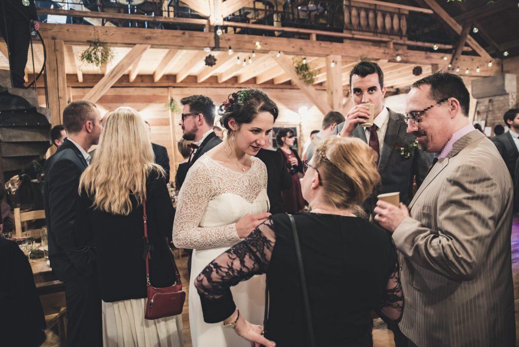 Animations et déroulé du vin d'honneur de notre mariage hivernal // Photo : Pauline Kupper Photographie