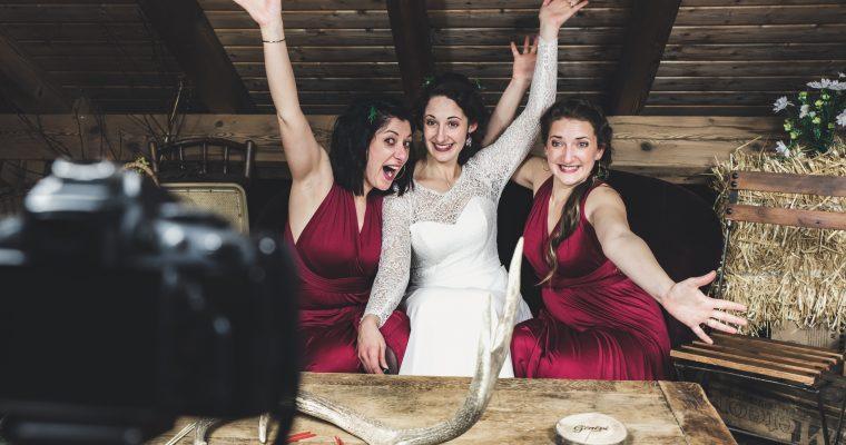 Mon chaleureux mariage enneigé : le vin d'honneur