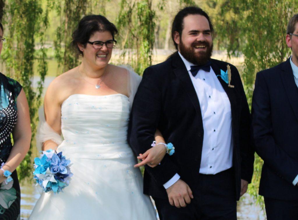 Photos de groupe improvisées le matin du mariage