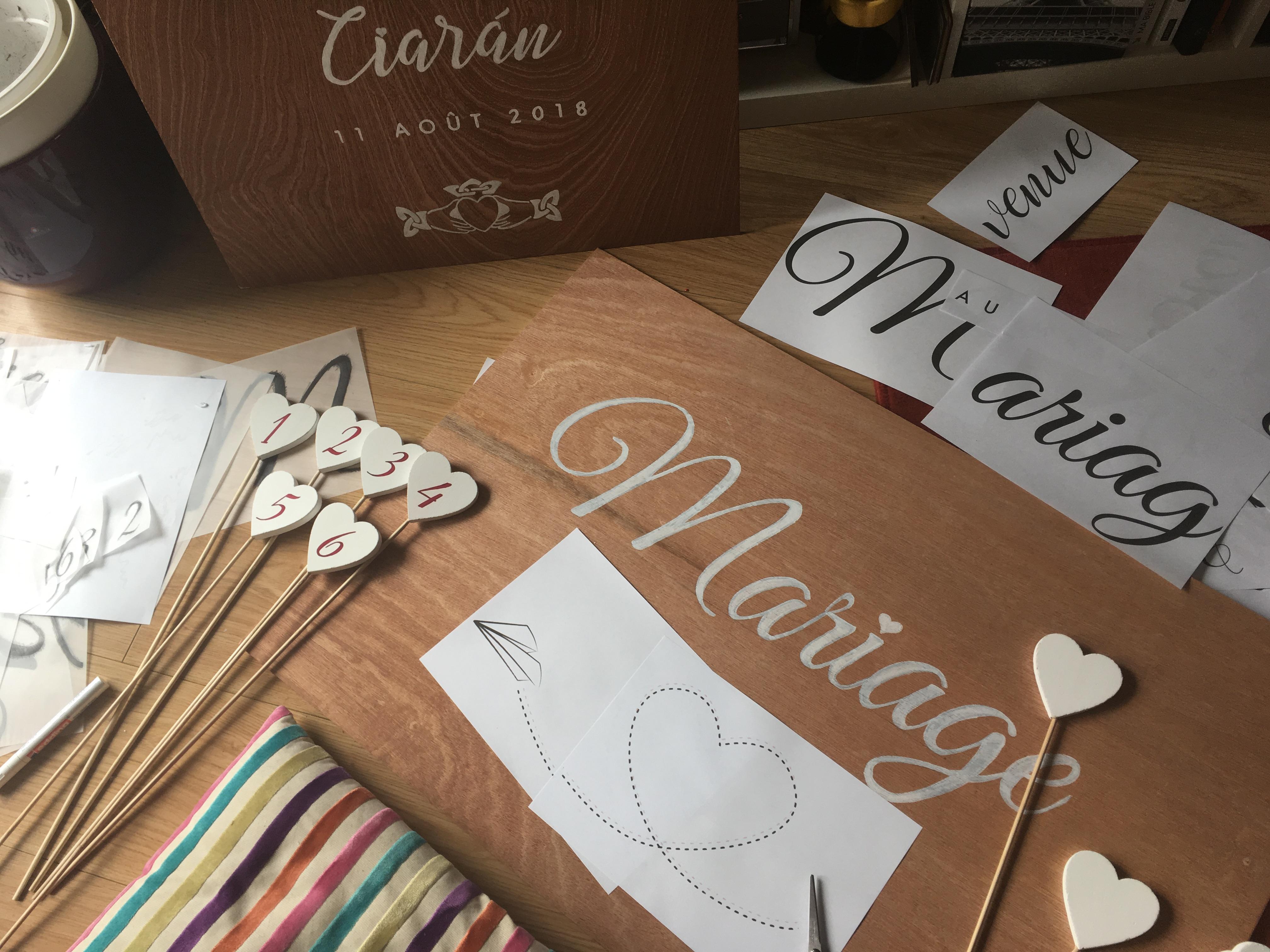 Tutoriel DIY : des panneaux de bienvenue pour le mariage