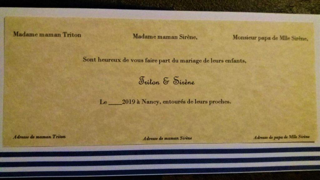 Des faire-part de mariage, sans invitation (simplement pour annoncer la bonne nouvelle)