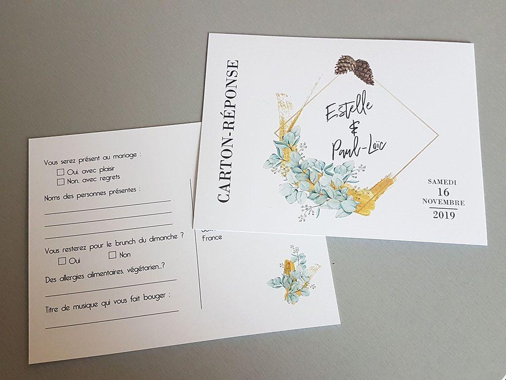 La création DIY de nos faire-part de mariage : les coupons réponses