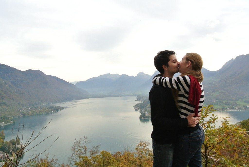 Notre séance d'engagement au lac d'Annecy
