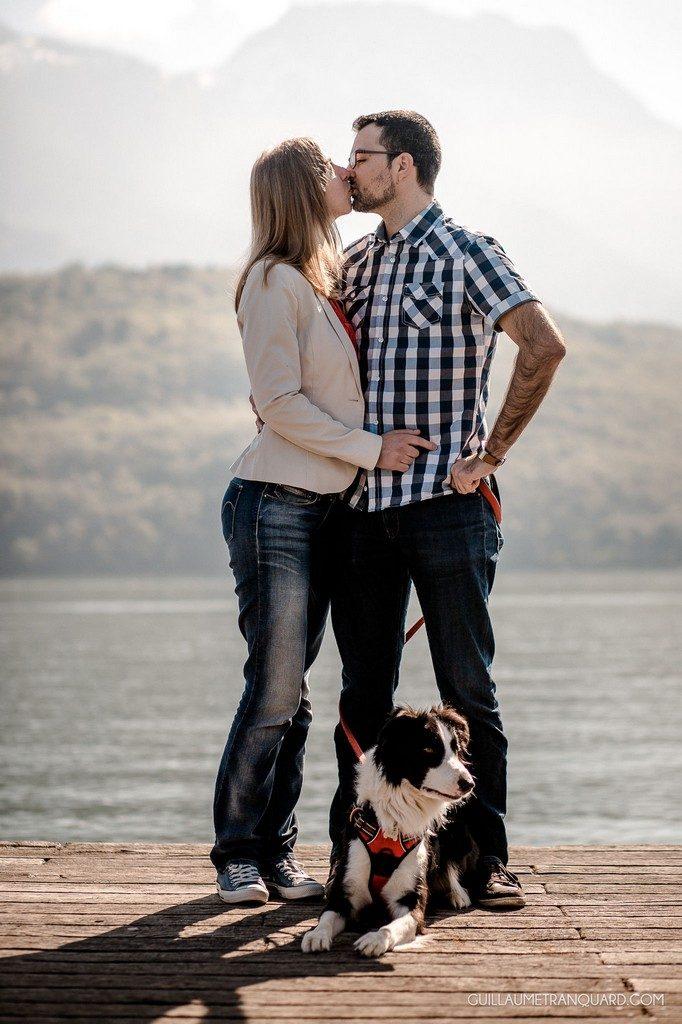 Notre séance d'engagement au lac d'Annecy  // Photo : Guillaume Tranquard