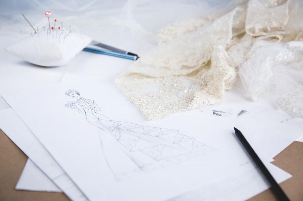 La confection de ma robe de mariée par ma mère, couturière DIY !