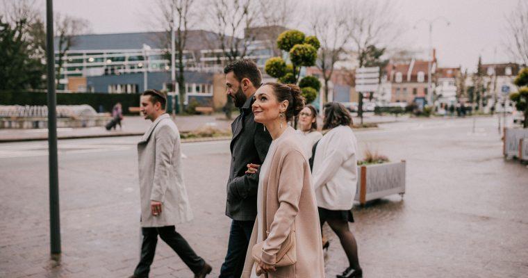 Mon mariage « pluvieux » et heureux au cœur de l'hiver chti : jour J, en route pour la mairie