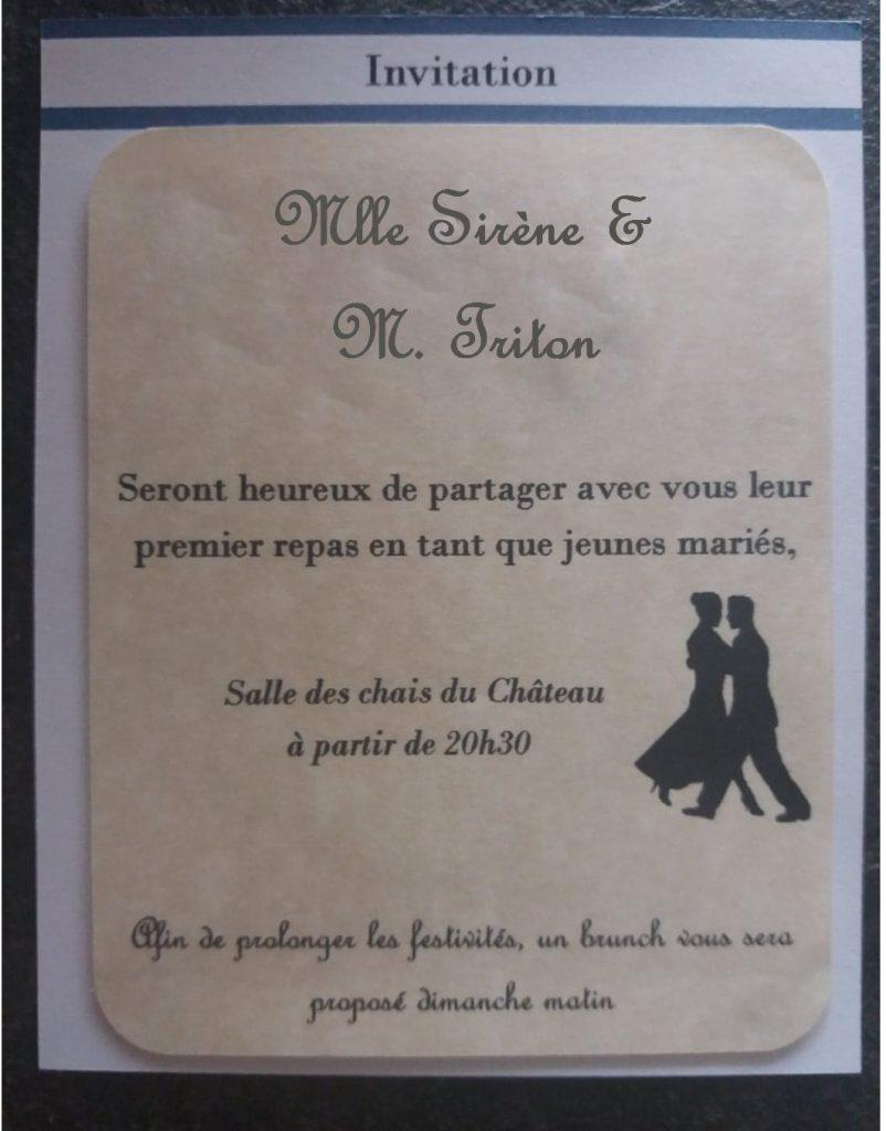 Nos faire-part de mariage DIY thème marin