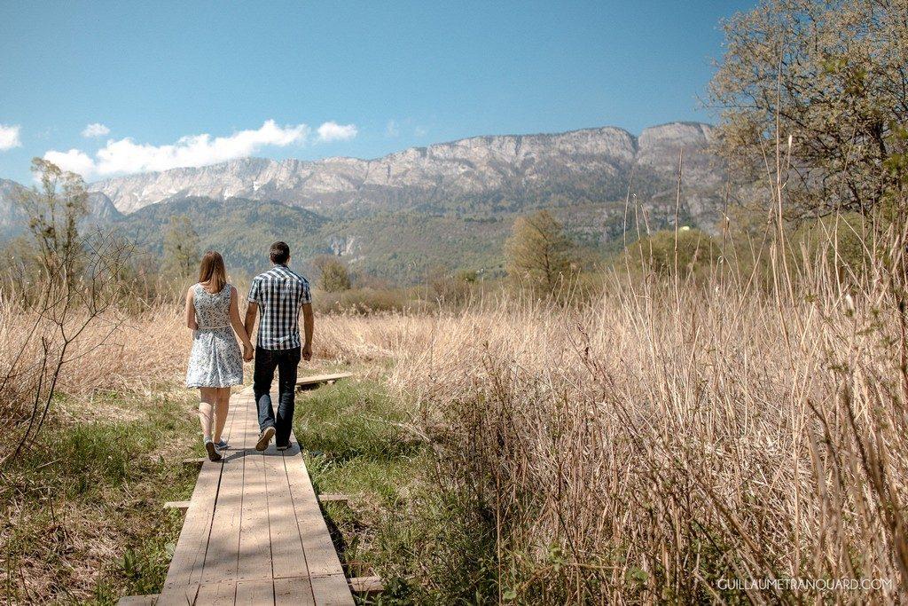 Notre séance d'engagement à la Réserve Naturelle du Bout du Lac // Photo : Guillaume Tranquard