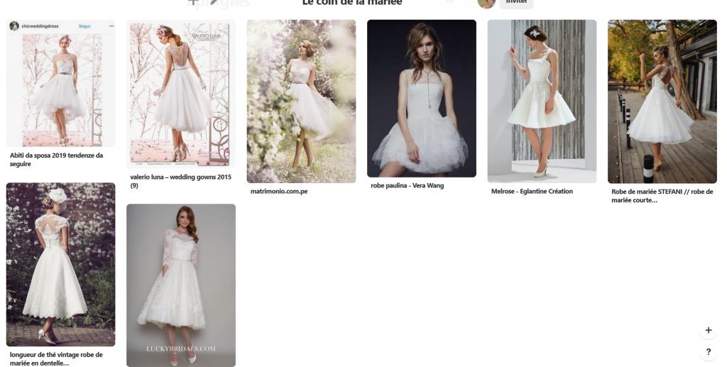 Mes essais de robes de mariée : une robe courte et asymétrique