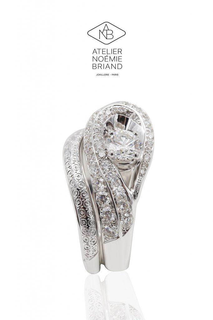 Comment porter ta bague de fiançailles et ton alliance ? // Photo : les créations sur mesure de Noémie Briand, artiste joaillière