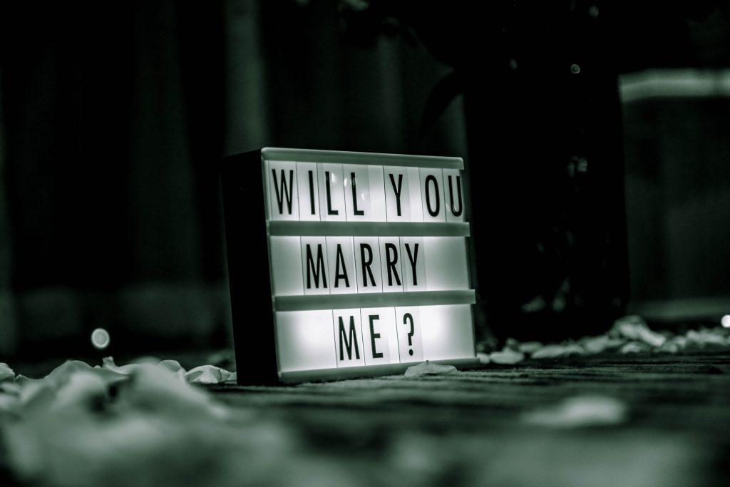 Le jour où j'ai demandé mon Amoureux en mariage...