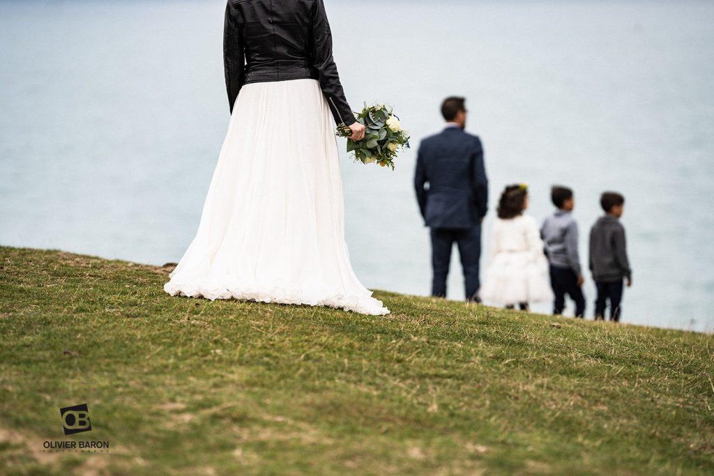 La découverte des mariés, avec leurs enfants // Photo : Olivier Baron