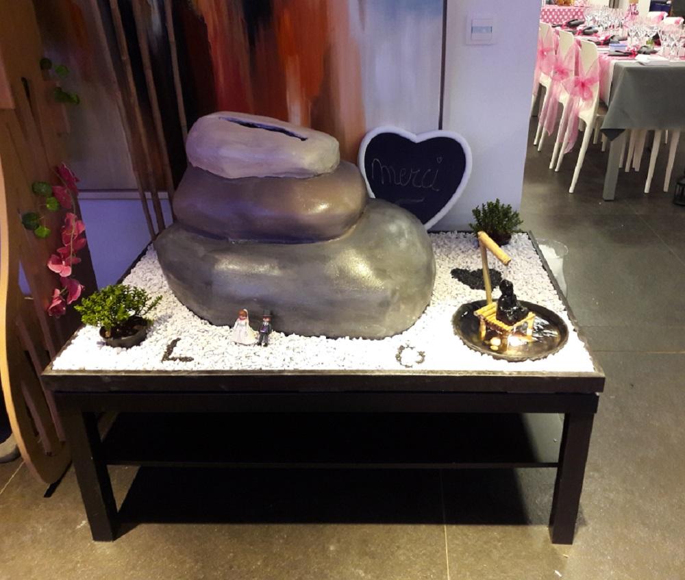 Une urne thème zen pour notre mariage