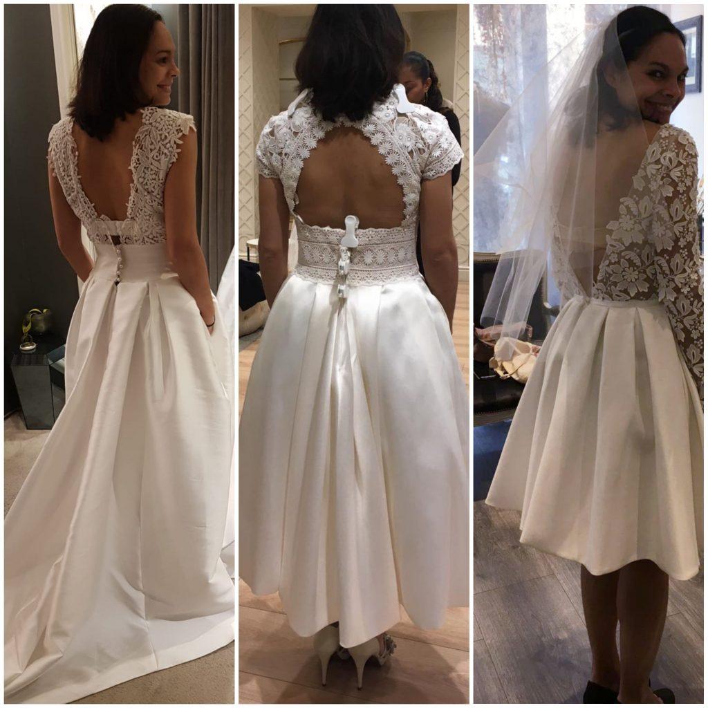 Mes essayages de robes de mariée courtes