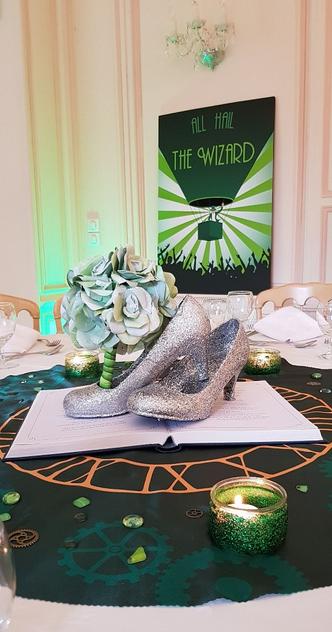 Notre décoration de mariage sur le thème du Magicien d'Oz