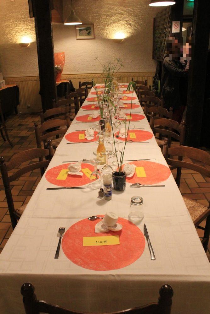 Table pour le repas du mariage