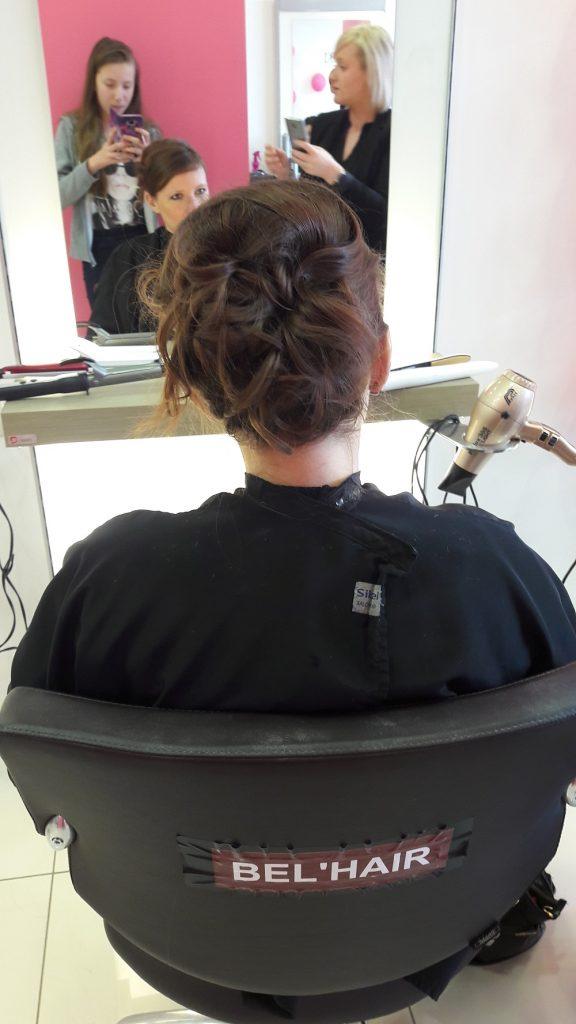 Essai coiffure pour mon mariage